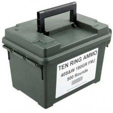 Ten Ring Ammo .40 S&W 180gr TMJ Can of 500