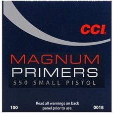 CCI 550 Small Pistol Primer Magnum